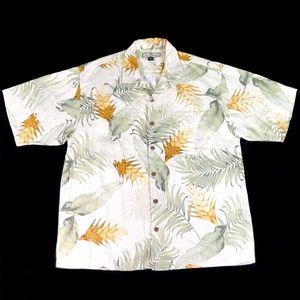 Tommy Bahama Mens Large Hawaiian Shirt Silk Floral